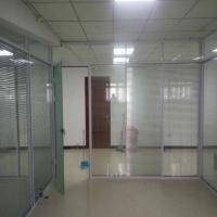 北京办公室玻璃隔断 铝合金钢化玻璃隔断 双玻百叶隔音高隔断墙