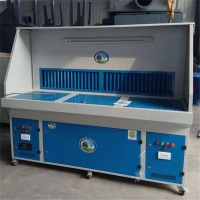 旱烟净化设备立式打磨吸尘柜抛光打磨工作台净化原理