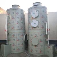 3万风量PP喷淋塔圆形焊接吹脱塔白色填料过滤装置