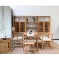 苏州老榆木餐厅桌椅、榆木茶桌、老榆木办公桌椅定做