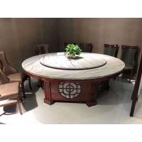 苏州电动圆桌定做、酒店实木餐桌、大理石火锅圆桌
