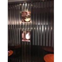 直销不锈钢黑钛金镂空屏风酒店装饰欧式创意落地隔断