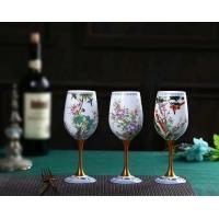 景德镇陶瓷酒杯礼品陶瓷杯青花玲珑杯办公杯红酒杯