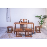 新中式仿古优畅实木茶几茶桌椅组合