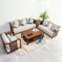 乌金木合璞客厅高档新中式实木家具沙发组合