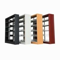 钢制图书架 转印书架图书馆图书架木护板书架