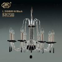 水晶吊灯 捷克工厂直供原装进口6头黑色水晶灯