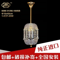 捷克工厂原装进口透明高铅水晶吸顶灯小吊灯