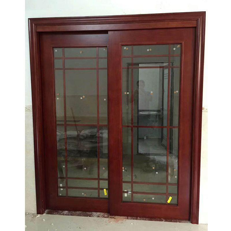 广东红海豚采光玻璃门系列 实木原木吊趟 平开门