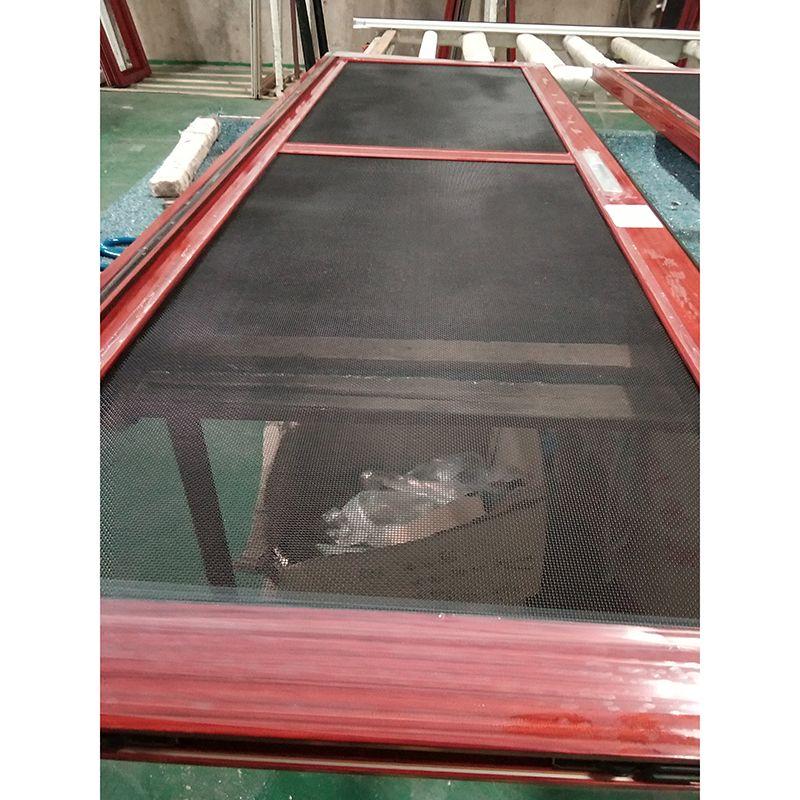 广东红海豚铝合金平开门带金钢沙网推拉门