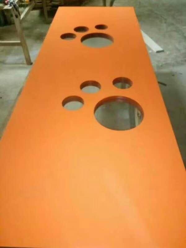 广东红海豚木门厂异形玻璃门儿童学校门