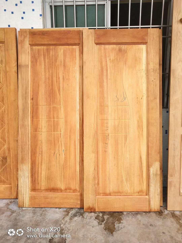 广东原木门厂高品质缅甸柚木房间套门