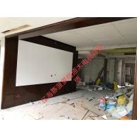 佛山红海豚原木家居电视背景墙 室内护墙板