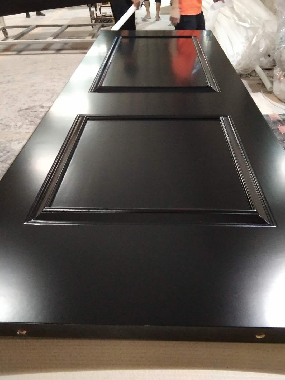 广东木门厂红海豚工艺烤漆门黑色实木门