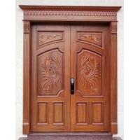 原木古典大門雙開別墅大門打造高檔豪華裝修
