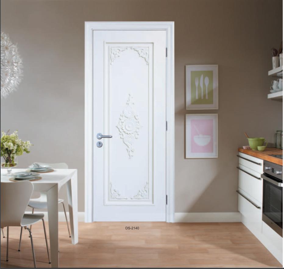 时尚轻奢白色门 简约时尚红海豚烤漆门