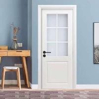 广东木门精品优质实木采光玻璃门可用于阳台 厨房