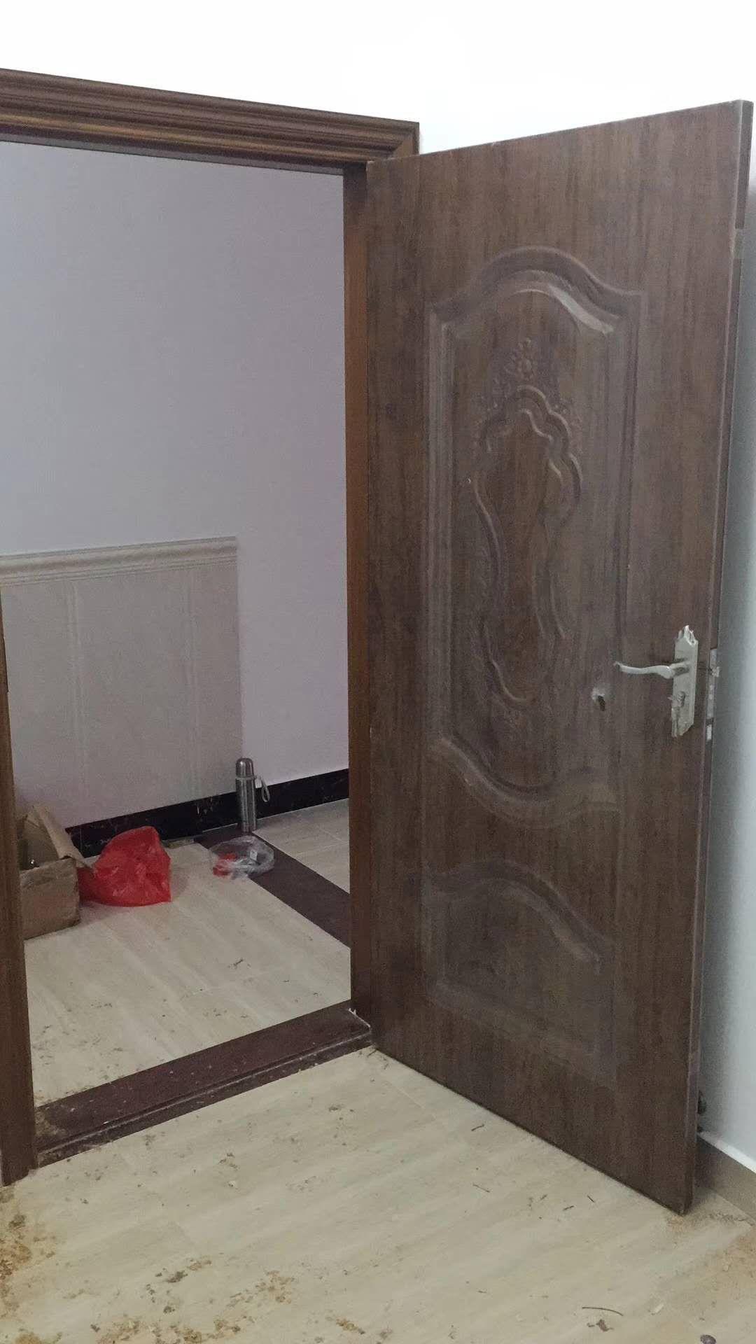 绿色环保钢木门 钢板套装门 韩国花梨钢木门