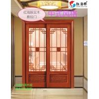 广东红海豚高端木门采光玻璃门/花格门定制