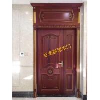 原木大门请选广东红海豚老品牌 值得信赖