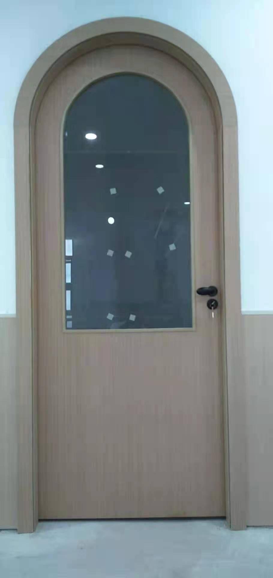 采光玻璃木门适用医院门 沐足门 学校门 棋牌室门
