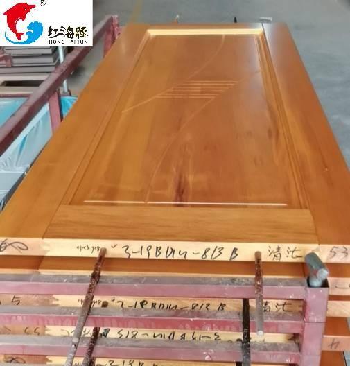广东佛山红海豚橡木平雕门 深雕门 橡木拼装门价格