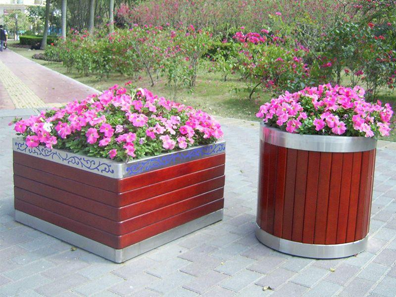 不锈钢包边花箱厂家直销 户外景观绿化花箱