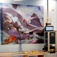 3D墙体彩绘机立式小型墙画喷绘机文化墙宣传绘画机家装壁画机器