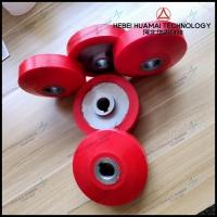 华迈供应聚氨酯包胶轮 耐磨轮轴承包胶轮 铁芯滚轮包胶叉车轮