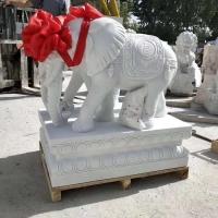 大象石雕小象雕塑