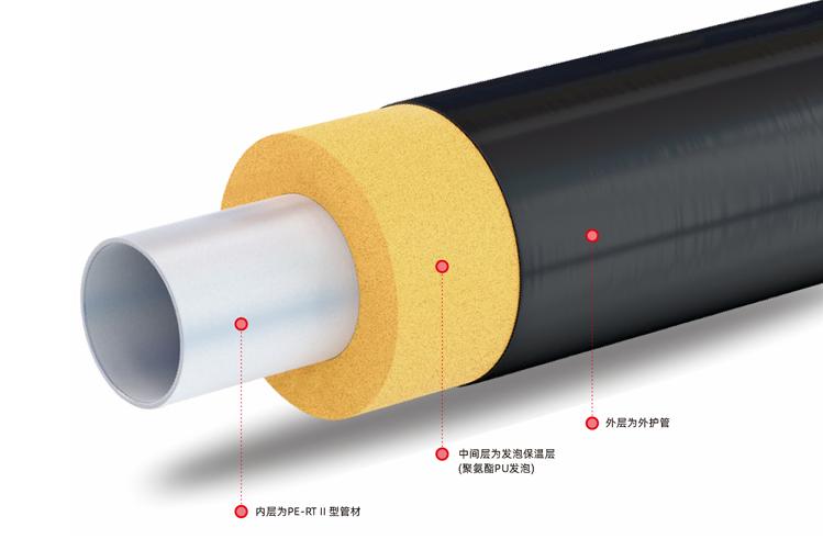 PERT 2 代热力保温管DN160mm厂家供货