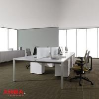 六人位桌组工位 钢架办公桌 时尚铝合桌架办公桌
