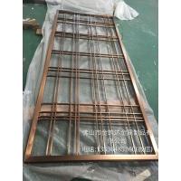 广东金筑达中式钛金不锈钢花格屏风  拉丝不锈钢屏风隔断