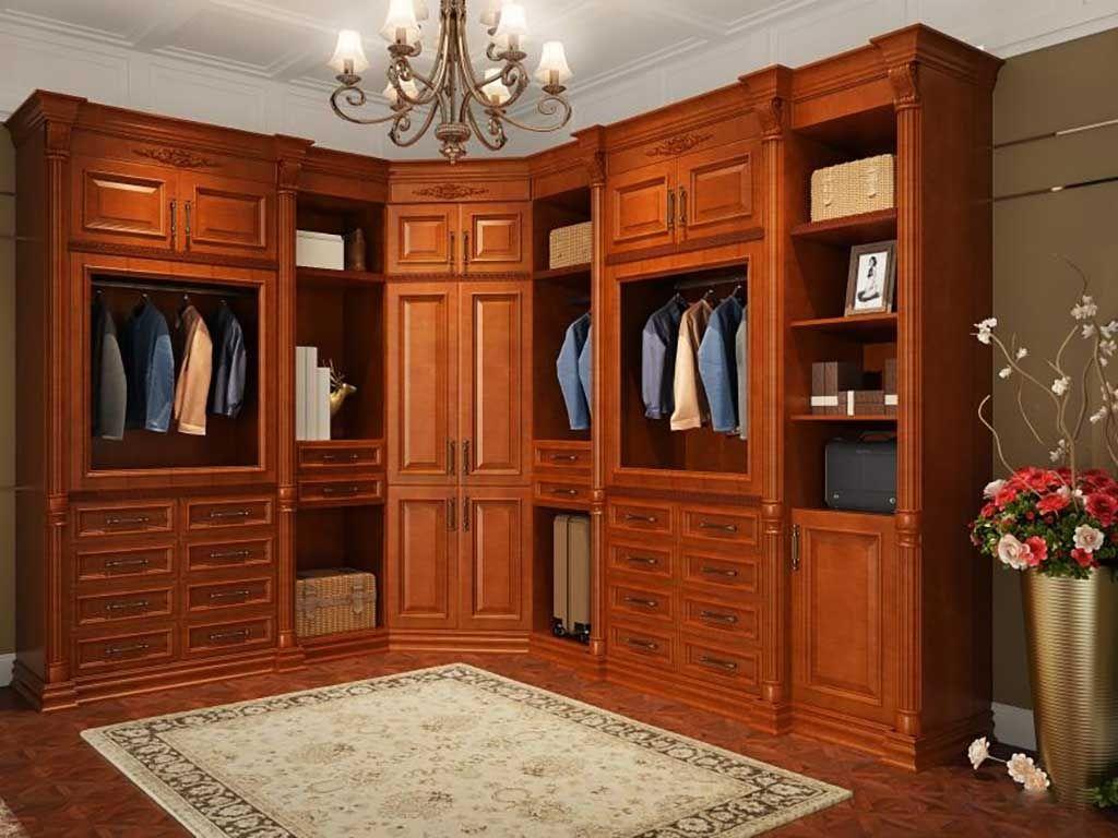 整体衣柜定制卧室欧式古典衣帽间整装定制多功能储物柜