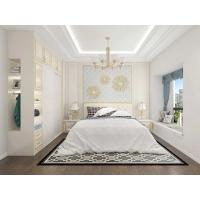 衣柜推拉門歐式簡約現代經濟型臥室家具組裝實木板式移門定制