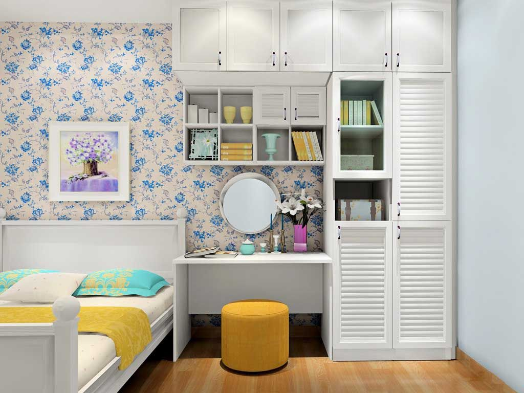 韩式田园多门衣柜现代简约板式卧室家具衣柜定做