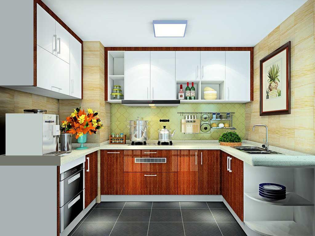 整体橱柜定做欧式U型厨房橱柜装修石英石台面 全屋定制厨柜