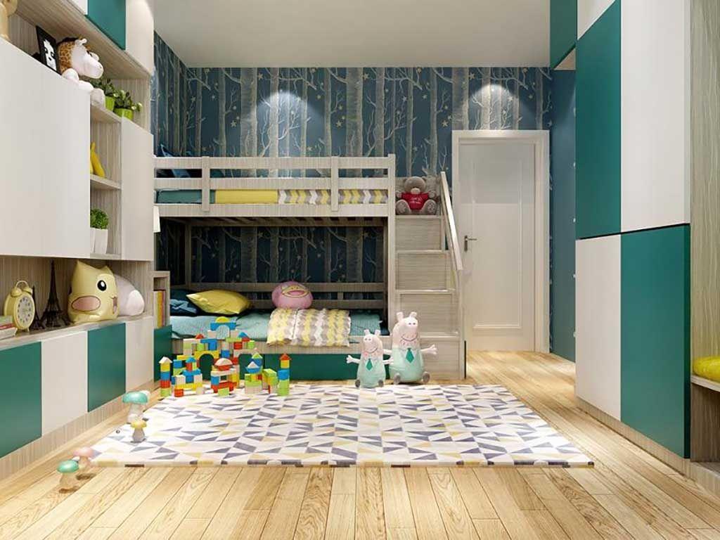 全屋定制 儿童房套装整装上下床衣柜书桌卧室多功能家具组合