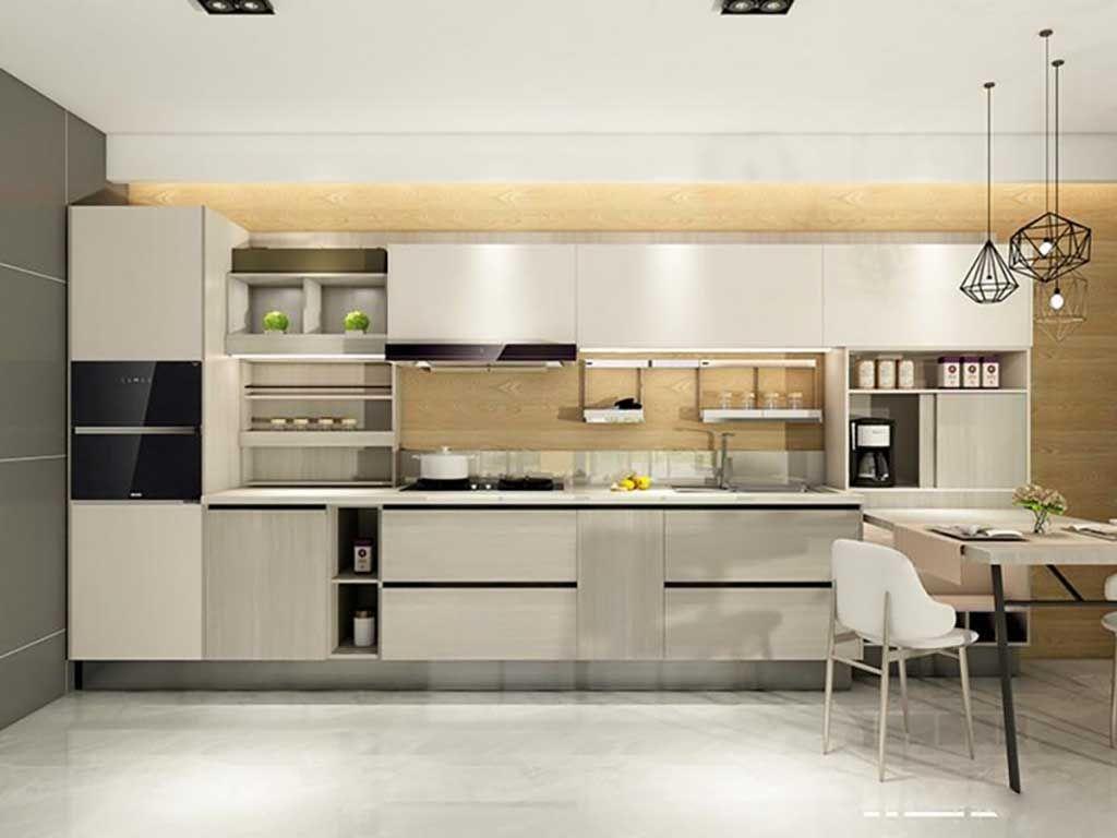 整体橱柜定做 现代简约厨柜石英石台面 厨房装修 橱柜定制