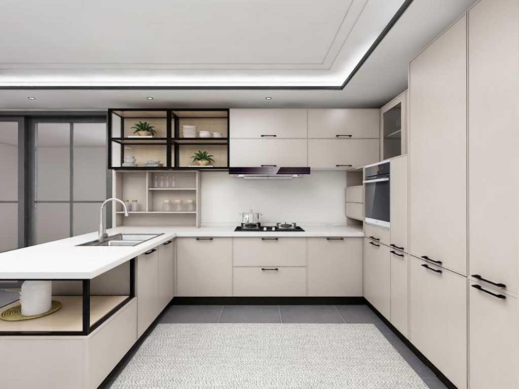 整体橱柜定做 现代橱柜定制厨房储物收纳现代吧台墨尔本