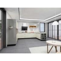整體櫥柜定做現代簡約鏡面一字形烤漆開放式廚房廚柜定制