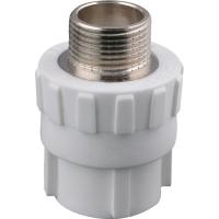 PPR冷熱水管配件PPR外絲直通價格 PPR直通 PPR變徑