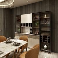 全铝酒柜隔断柜定制仿木纹玄关柜现代全铝家具招商