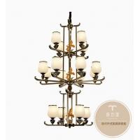 新中式家居灯饰-全铜吊灯-铜木源