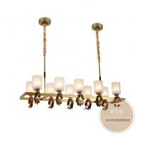 全铜吊灯-新中式灯饰-铜木源