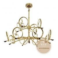 新中式灯饰品牌-新中式铜吊灯-铜木源