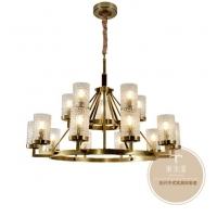 新中式吊灯-家居新中式风格吊灯-铜木源灯饰