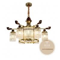 家居新中式吊灯-客厅中式风格吊灯品牌-铜木源