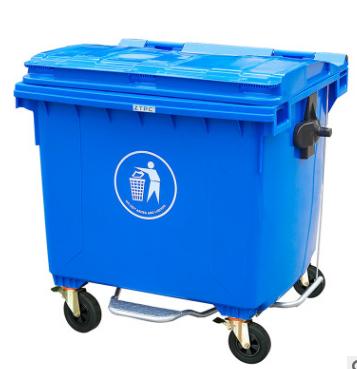南京挂车垃圾桶-塑料垃圾桶660L-南京鹏茂塑料制品