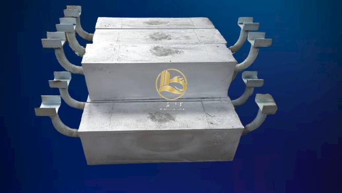 钢桩码头阴极保护常用铝阳极 铝阳极生产厂家